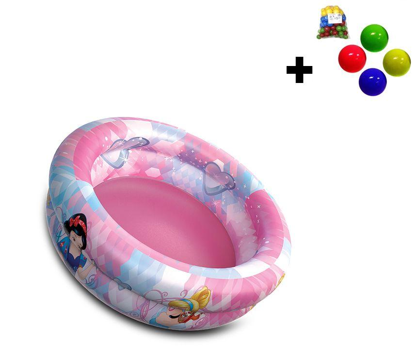 Piscina de Bolinhas das Princesas Disney Infantil 37L + 50 Bolinhas