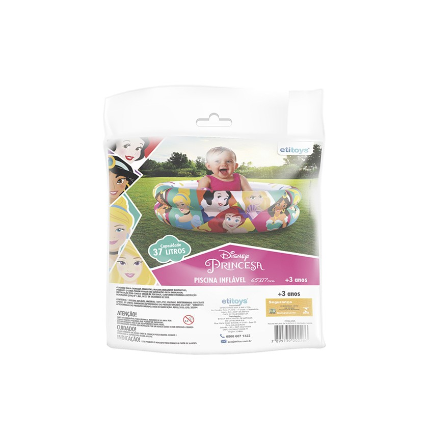 Piscina de Bolinhas das Princesas Disney Infantil 37L + 50 Bolinhas dyin-095_N
