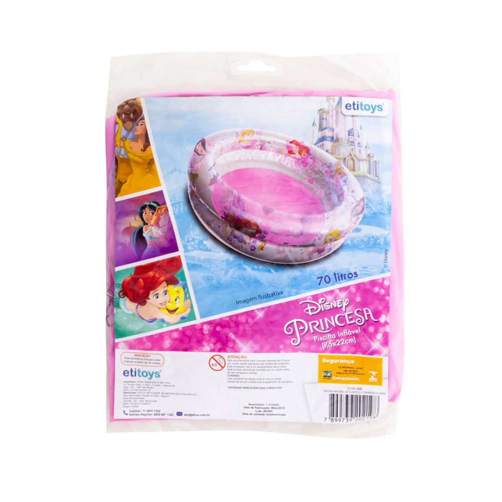 Piscina de Bolinhas das Princesas Disney Infantil 70L + 50 Bolinhas