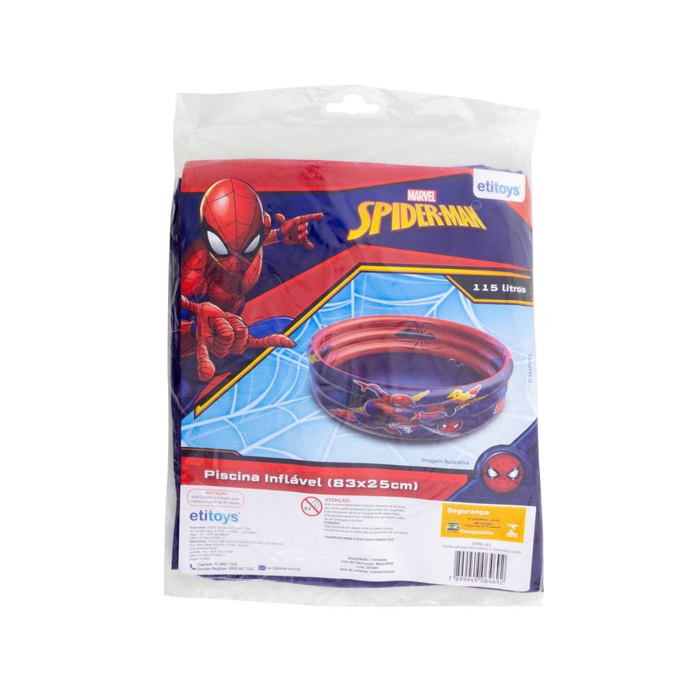 Piscina de Bolinhas do Homem Aranha Infantil 115L + 100 Bolinhas