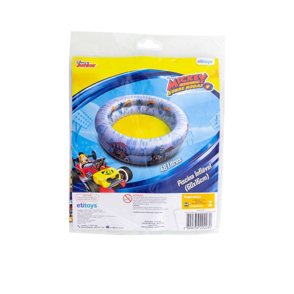 Piscina de Bolinhas do Mickey Aventura Sobre Rodas Infantil 48L + 50 Bolinhas