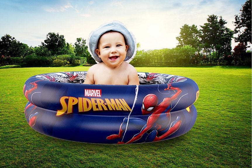 Piscina de Bolinhas do Spider-Man Infantil 37L + 50 Bolinhas dyin-099_N