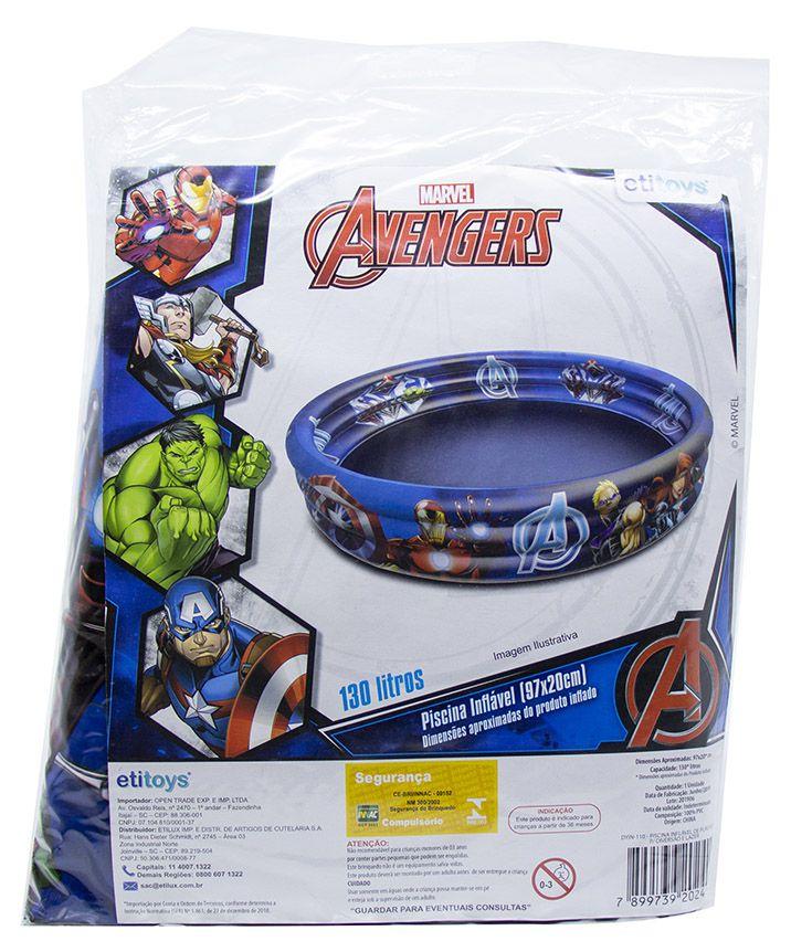 Piscina de Bolinhas dos Avengers Infantil 115L + 100 Bolinhas