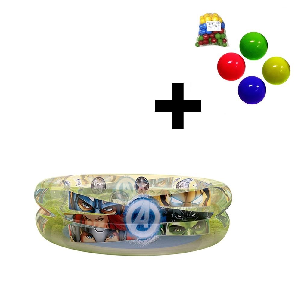 Piscina de Bolinhas dos Avengers Infantil 70L + 50 Bolinhas dyin-093_N