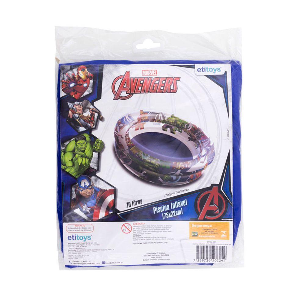 Piscina de Bolinhas dos Avengers Infantil 70L + 50 Bolinhas