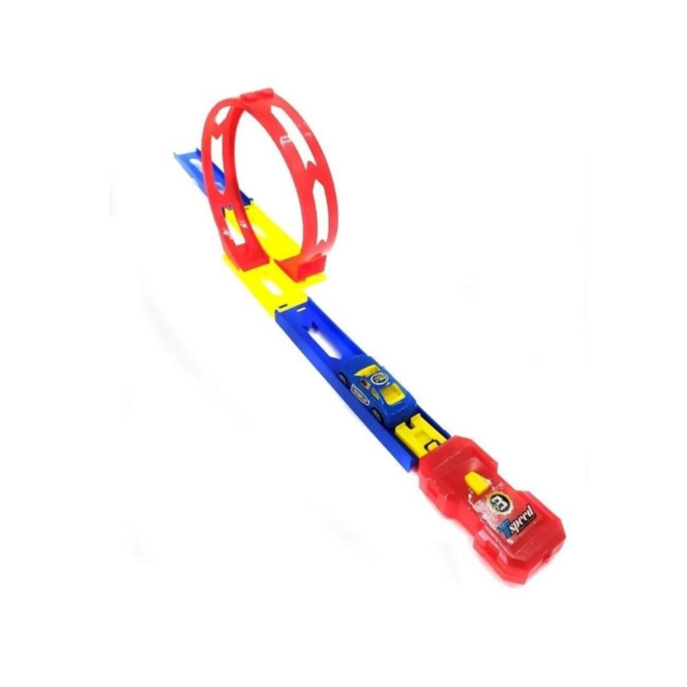 Pista Looping Power Top Lançador Estilo Hot Wheels MS-1437