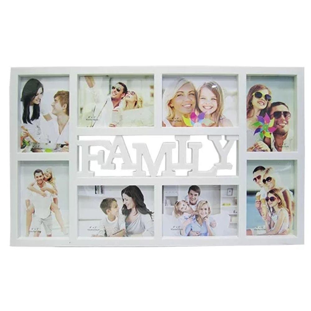 Porta retrato tema family para 8 fotos 10x15cm Casita YI25058-1