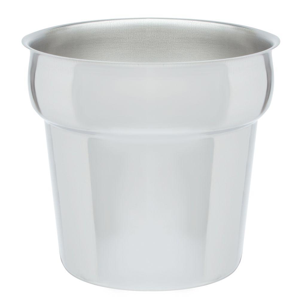 Rechaud Caldeirão para sopa caldos Inox 7 Litros Base Reforçada Panelas Banho Maria Buffet BM8307