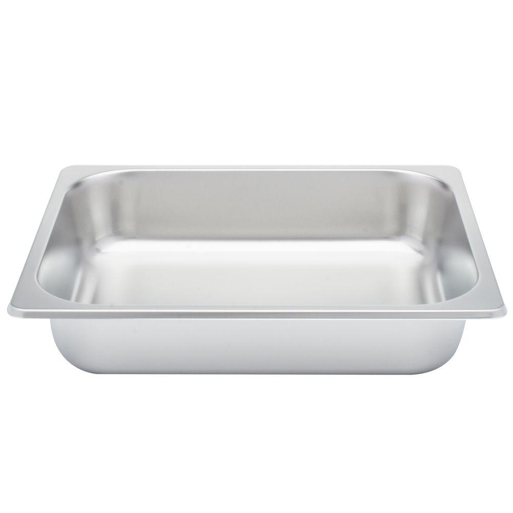 Rechaud Inox 4,5 Litros Base Reforçada Panelas Banho Maria 1 Cuba Buffet 1/2 WH8341