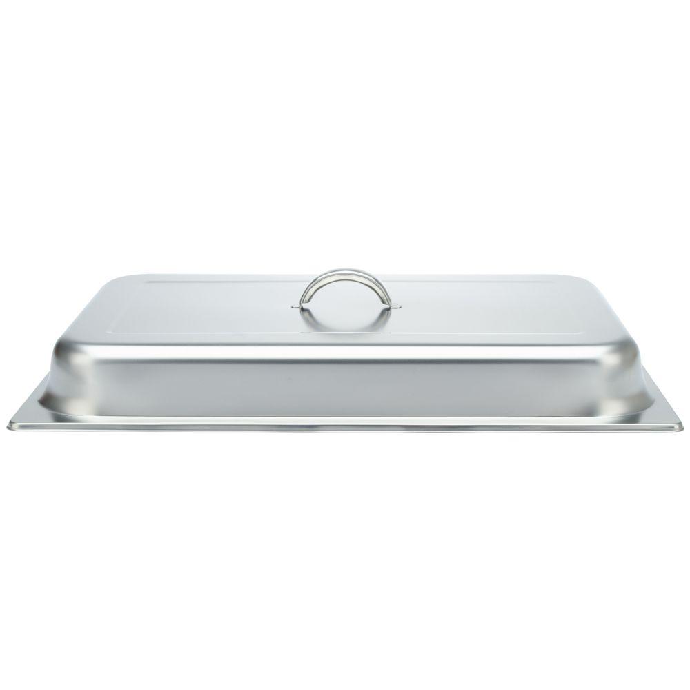 Rechaud Inox 9 Litros Base Reforçada Panelas Banho Maria 2 Cubas Buffet 1/2 WH833-02
