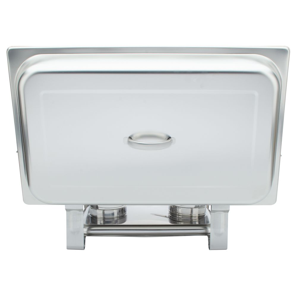 Rechaud Inox 9 Litros Base Reforçada Panelas Banho Maria 3 Cuba Buffet 1/3 WH833-03