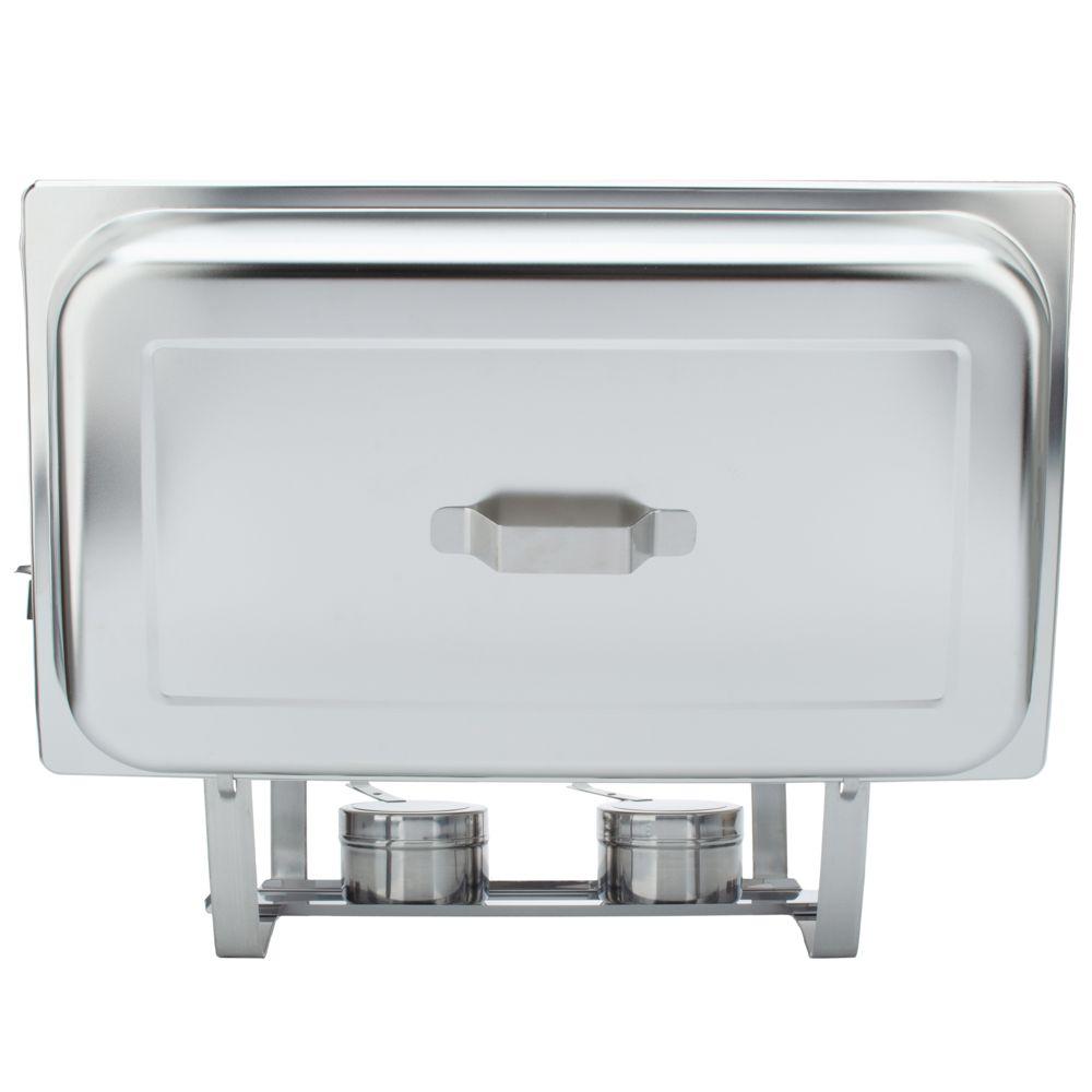 Rechaud Inox 9 Litros Panelas Banho Maria 2 Cubas Buffet 1/2 WH4331B-02