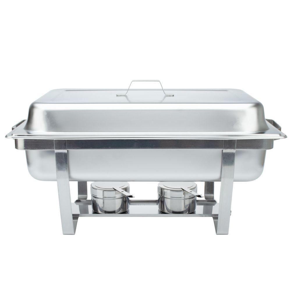 Rechaud Inox 9 Litros Panelas Banho Maria 4 Cubas Buffet 1/4 WH4331B-04