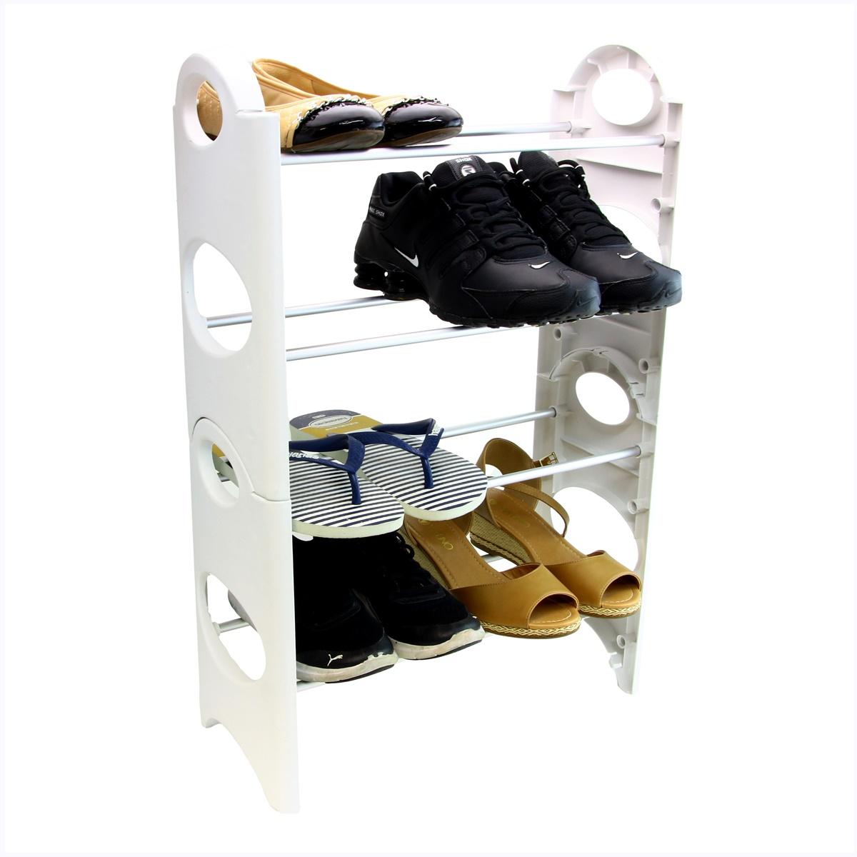 Sapateira Para Hall De Entrada Porta varias cores 16 Sapatos SAP-4A-8P-N
