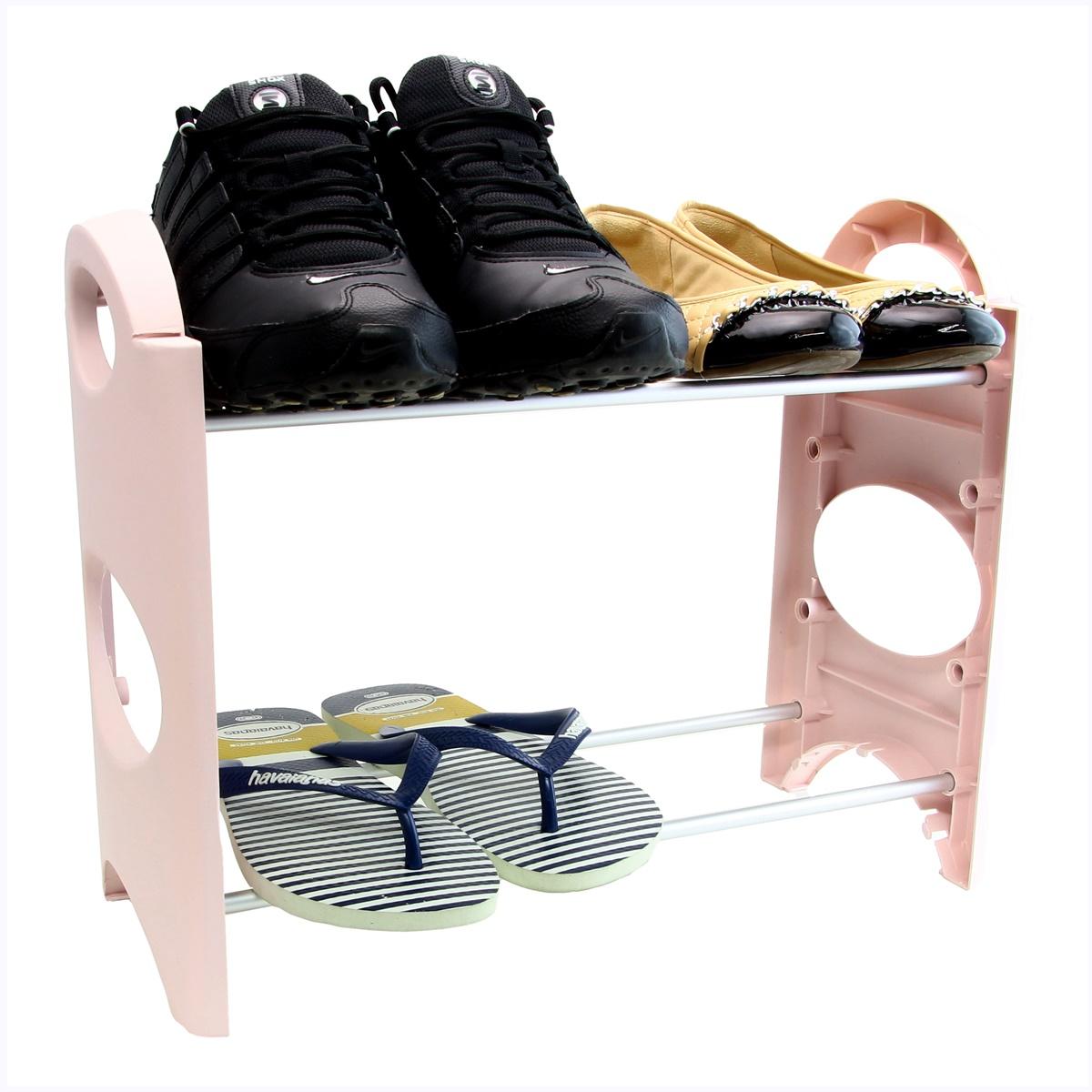 Sapateira Pequena Para Hall De Entrada Porta varias cores 8 Sapatos SAP-2A-4P-N