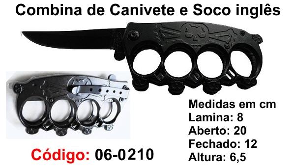 Soco Inglês Com Faca Canivete Combate Tático Defesa Esportivo 06-0210