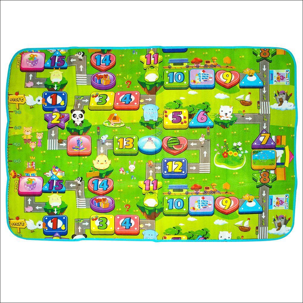 Tapete Atividades Grande Infantil Bolsa 2,00x1,80 Dupla Face Isolante Térmico TOYS-0518