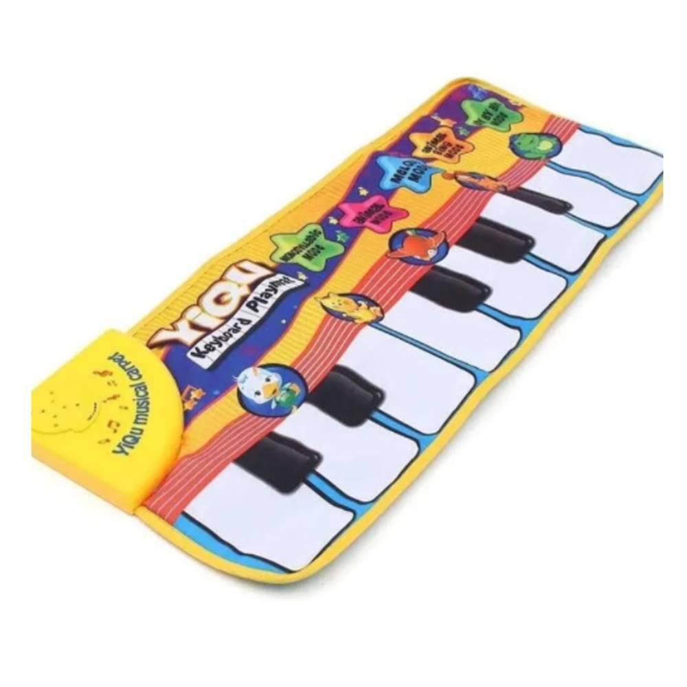 Tapete Atividades Infantil Bebê Piano Musical Bichos Luzes WB7741