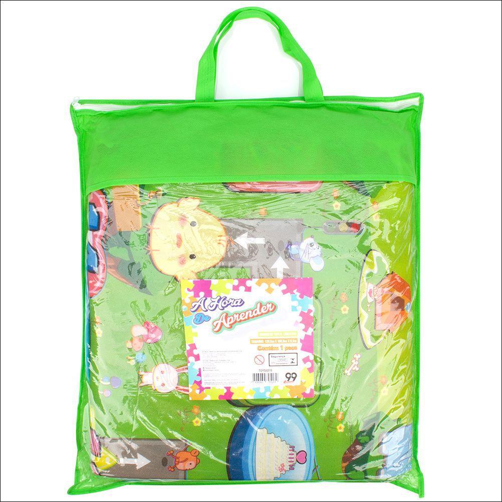 Tapete Atividades Infantil Bolsa 1,80x1,20 Dupla Face Isolante Térmico TOYS-0516