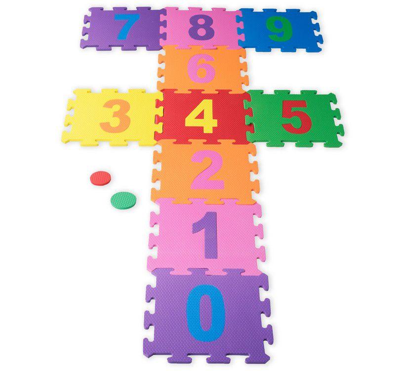 Tapete Eva Infantil 10 Placas De números 0 a 9 placa 29x29cm 9305