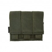 Porta carregador triplo de pistola - WTC - Verde Oliva