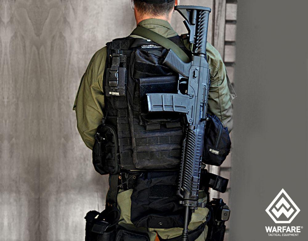 Bandoleira - Fenir - 2 PT com Zarelho - Warfare - Preto
