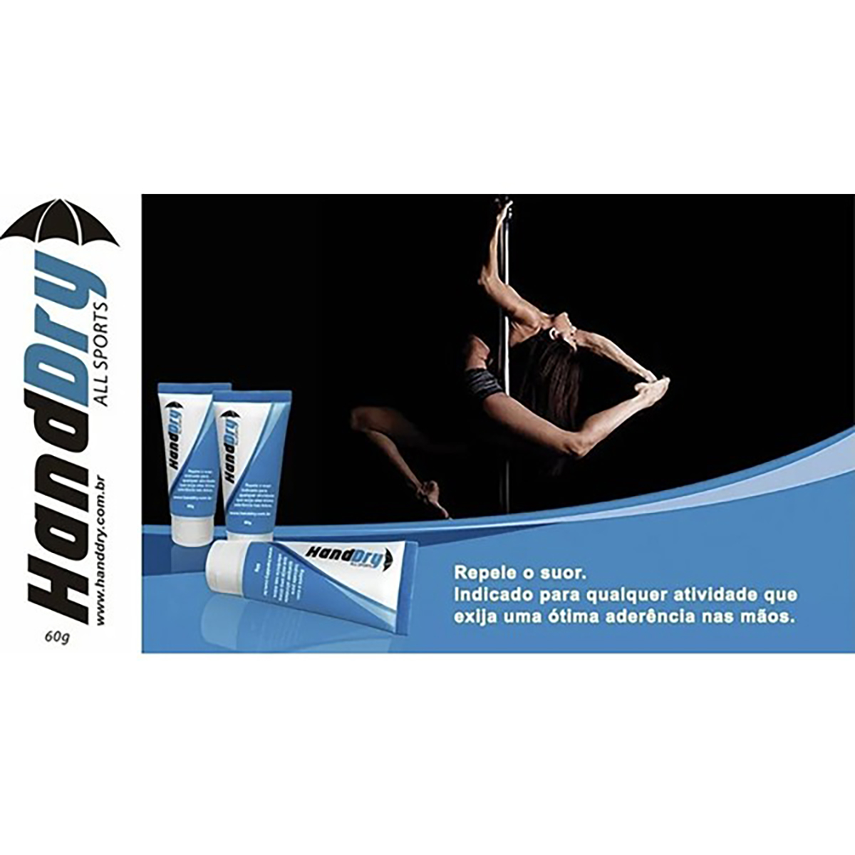 Hand Dry (Combo 2 unids) - Gel Anti-transpirante (Tenis, Squash, Tenis, Bech tenis, Poli dance, CrossFit)