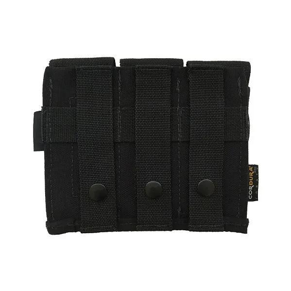 Porta carregador triplo de pistola - WTC - Preto