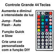 Controle 44 teclas + controladora Fita de LED RGB