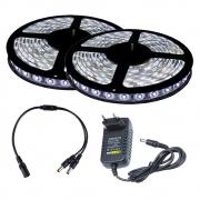 Fita LED 5050 Branco Frio 10m com Fonte 2A