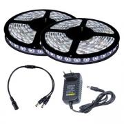 Fita LED 3528 Branco Frio 10m com Fonte 2A
