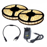 Fita LED 5050 Branco Quente 10m com Fonte 2A