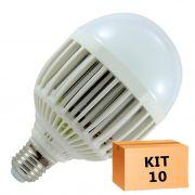 Kit 10 Lâmpada Led Bulbo 15W Branco Quente