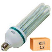 Kit 12 Lâmpada Led Milho 36W Branco Quente