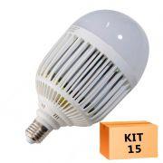 Kit 15 Lâmpada Led Bulbo 36W Branco Frio
