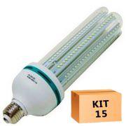 Kit 15 Lâmpada Led Milho 36W Branco Quente