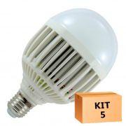 Kit 5 Lâmpada Led Bulbo 15W Branco Quente