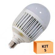 Kit 5 Lâmpada Led Bulbo 36W Branco Frio