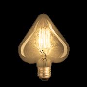Lâmpada de Filamento de Carbono Heart Squirrel Cage 40W 110V