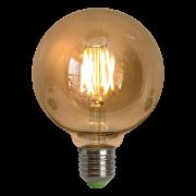 Lâmpada de Filamento de LED G95 Spiral 4W 220V Dimerizável