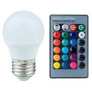 Lâmpada LED Bulbo Bolinha 03W RGB