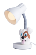 Luminária De Mesa Spiralle Branca Com Pendeco Srd Startec