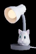 Luminária De Mesa Spiralle Cinza Com Pendeco Gato Cinza Startec