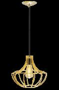 Lustre Pendente Aramado Morango 32Cm Dourado Auremar