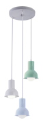 Lustre Pendente Collection Trio Colors M2 (Az/Vd/Branco) Startec