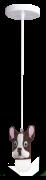 LUSTRE PENDENTE PENDECO CACHORRO 3 (BULDOG MARROM) STARTEC