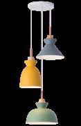 Lustre Pendente Rpx Trend Trio Verde/Amarelo/Concreto Startec