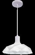 Lustre Pendente Sides M3  E27 Branco Com Copo Branco Startec