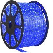 Mangueira 220V LED Azul Rolo 100m com 5 tomadas