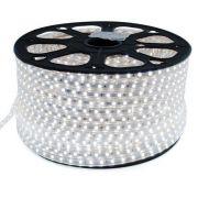 Mangueira Fita 110V LED Branco Frio Rolo 100m com 4 tomadas
